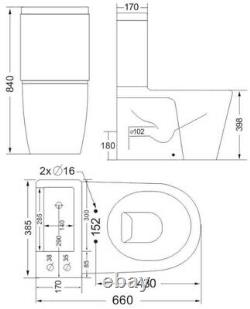 2 in 1 Close Coupled Toilet and Basin Compact Combo with Seat Set Space Saver