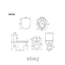 450mm Vanity Unit with Basin & Close Coupled Toilet wc pan Suite bundel