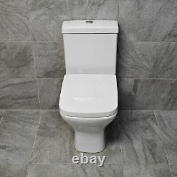 605 Rimless Short Projection Toilet Close Coupled WC Pan Back to Wall Seat