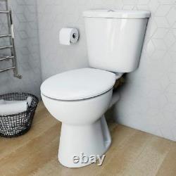 700mm close coupled clockroom comfort open Back Toilet WC Soft Close Seat
