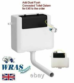 Addison fully Back to wall Toilet Close Coupled D Pan Quick soft close Seat WC