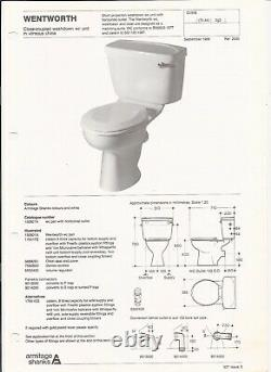 Armitage Shanks, Wentworth, close coupled WC in Blushed Rose