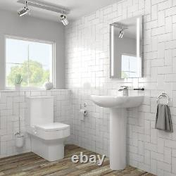 Ashford Rimless Close Coupled Toilet and Basin Suite