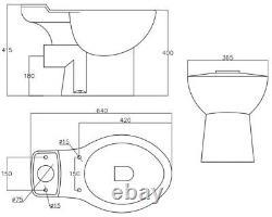 Bathroom Close Coupled Corner Toilet Space Saving WC Pan Soft Close Seat Cistern