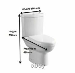 Bathroom Suite Basin Sink Close Coupled Toilet wc pan 360 1 2 tap Hole Cloakroom