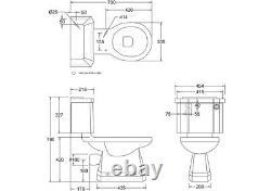 Burlington Close Coupled Toilet with Slimline Push Button Cistern, P5 & C4