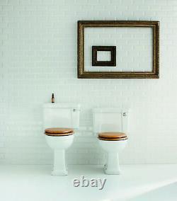 Burlington Regal Raised Close Coupled Toilet Slimline Push Button Flush P12 & C4