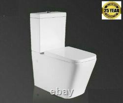 Carrine Close Coupled Square Toilet Modern Square Ceramic Soft Close Seat WC