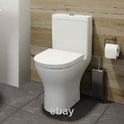 Ceramic Round Short Projection Compact Close Coupled Toilet pan wc Soft Closing