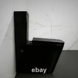 Close Coupled Back to wall Square Caprice Black Toilet WC Bathroom Soft Close