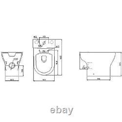 Close Coupled Corner Toilet with Soft Close Seat Portland