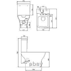 Close Coupled Rimless Comfort Height Toilet with Soft Close Seat Austin