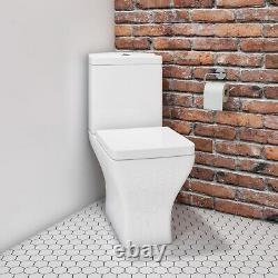 Close Coupled Rimless Corner Toilet with Soft Close Seat Austin