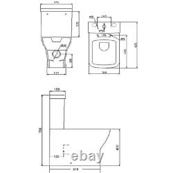 Close Coupled Rimless Fully Shrouded Toilet with Soft Close Seat Austin