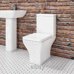 Close Coupled Rimless Toilet with Soft Close Seat Austin