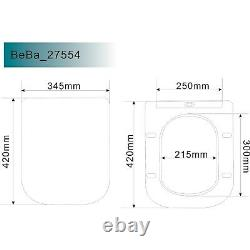 Close Coupled Rimless Toilet with Soft Close Seat Boston
