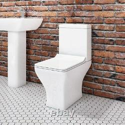 Close Coupled Short Projection Toilet with Slim Soft Close Seat Austin