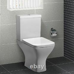 Close Coupled Short Projection Toilet with Wrap Soft Close Seat Austin Range