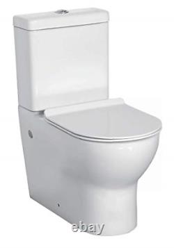Close Coupled Toilet Back to Wall Soft Closing Seat Close Coupled Toilet WC D to