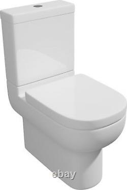 Close Coupled Toilet Ceramic Short Projection Pan Cistern Soft Close Seat WC