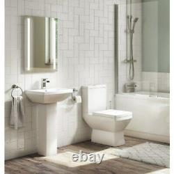 Close Coupled Toilet & Full Pedestal Basin Suite 1 Tap Hole Bathroom Sink