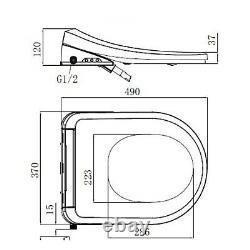 Close Coupled Toilet with Smart Bidet Toilet Seat