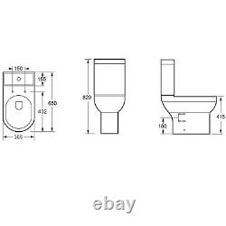 Close Coupled Toilet with Soft Close Wrap Seat Pendle