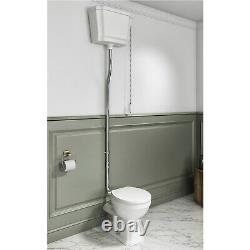 Close Coupled Traditional High Level Toilet with Soft Close Seat Park Royal