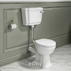 Close Coupled Traditional Low Level Toilet with Soft Close Seat Park Royal