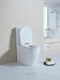 Comfort Height Doc M Toilet Pan WC Disabled Close Coupled Back to wall