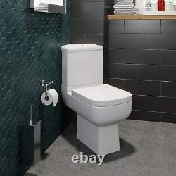 Corner Toilet Close Coupled Dual Flush Gloss White Finish Modern Finish
