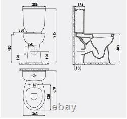 Creavit Disabled Doc M Close Coupled Toilet Comfort Height Pan P Trap soft Seat