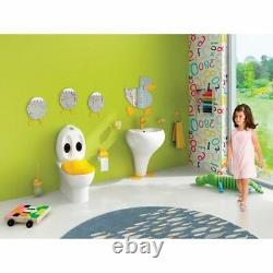 Creavit Ducky Back To Wall WC Pan Close Coupled toilet Basin sui Children Junior