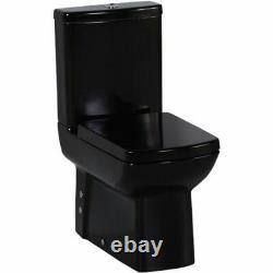 Creavit Lara Back to Wall WC Black Square pan close coupled toilet Made Turkey