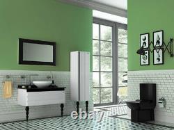 Creavit Lara Back to wall WC Matt Black Square pan close coupled toilet