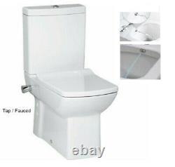 Creavit Lara Combined Bidet Back to wall WC pan close coupled toilet integrated