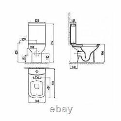Creavit Lara Combined Bidet Square Pan WC P Trap Toilet close coupled P Trap sea