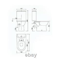 Creavit Selin P Trap close coupled toilet pan wc Soft Closing Seat & Cover