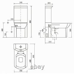 Creavit Wing Back to wall close coupled WC toilet pan seat cistern 690mm