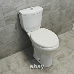 Doc M Comfort Raised Height Toilet WC Elderly Disabled Close Coupled Soft Close