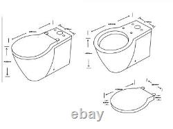 Doc M Disabled Comfort Height Compact Close Coupled Toilet Pan wc Back to wall