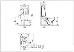 Ducky Back To Wall WC Pan Close Coupled toilet Combined Bidet Children Junior