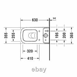 Duravit 2134090092 Happy D. 2 Floor-Mounted Close Coupled Elongated Toilet
