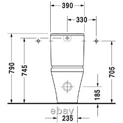 Duravit 2156090092 DuraStyle Floor-Mounted Close Coupled Elongated Toilet