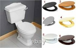 Este Victorian Traditional Close Coupled Toilet Pan WC Lever Cistern Seat