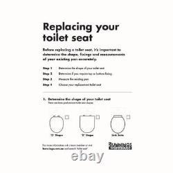 Estilo Close Coupled Replacement Toilet Seat