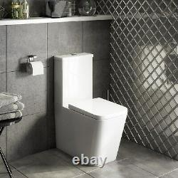 Evan Close Coupled WC and Soft Close Seat Closed Back