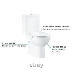 GRADE A1 Close Coupled Rimless Toilet with Soft Close Seat Grohe Bau