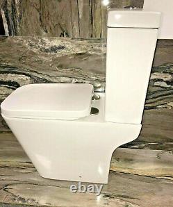 Gianni ECO Square Rimless Modern Close Coupled Toilet WC Ceramic Soft Closing
