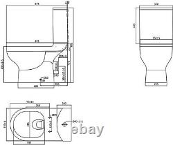 GoodHome Cavally Close-coupled Rimless Toilet with Soft close seat 0474